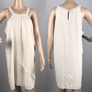 Bisou Bisou Michele Bohbot chiffon dress sz L